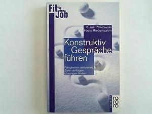 Konstruktiv Gespräche führen: Pawlowski, Klaus /