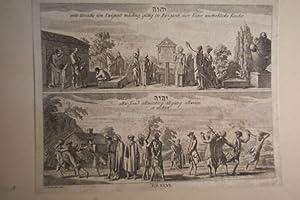 4 Kupferstiche nach D. Chodowiecki um 1780: Theologie