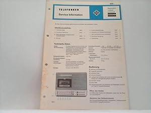 Magnetophon. Laufwerk. partysound: Telefunken; Service Information