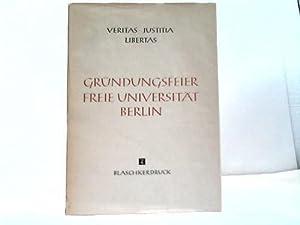 Gründungsfeier der Freien Universität Berlin im Dezember 1948: Freie Universit�t Berlin