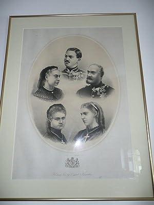 König Georg V. mit Familie: Hannover - K�nigshaus