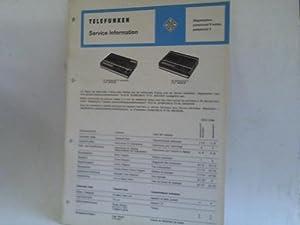 Magnetophon partysound R autom., partysound II: Telefunken Service Information