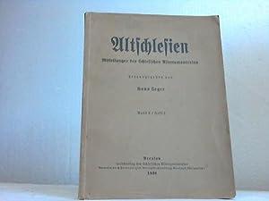 Altschlesien. Mitteilungen des Schlesischen Altertumsvereins. Band 6/Heft 2: Schlesien - Geger...