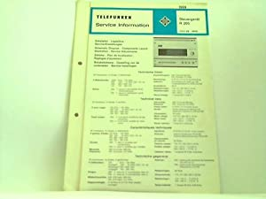 Steuergerät R 205. RVH 69 - 4640: Telefunken; Service Information