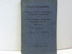 Offizier-Stammliste des vormaligen Königlich Hannoverschen 3. Infanterie-Regiments und des 1. ...