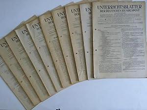 Ausgabe B. Fernmeldewesen. 10. Jahrgang. 1957. 24 Hefte in 12 Heften: Unterrichtsblätter der ...