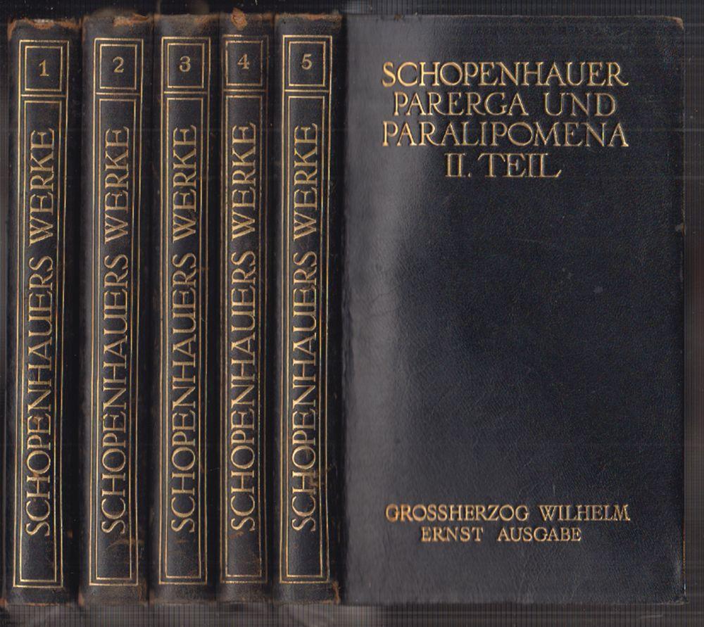Sämmtliche Werke in fünf Bänden. Non multa.: SCHOPENHAUER, Arthur.
