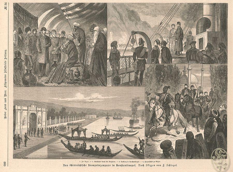 Das österreichische Kronprinzenpaar in Konstantinopel. 1. Im