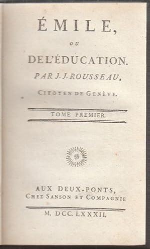 Émile, ou de l` éducation.: ROUSSEAU, J(ean) J(aques).
