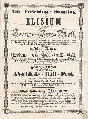 Am Fasching-Sonntag ist im Elisium vereinigter Jocus-