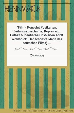 Film - Konvolut Postkarten, Zeitungsausschnitte, Kopien etc.
