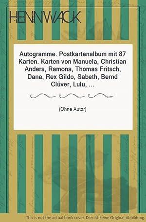 Autogramme. Postkartenalbum mit 87 Karten. Karten von