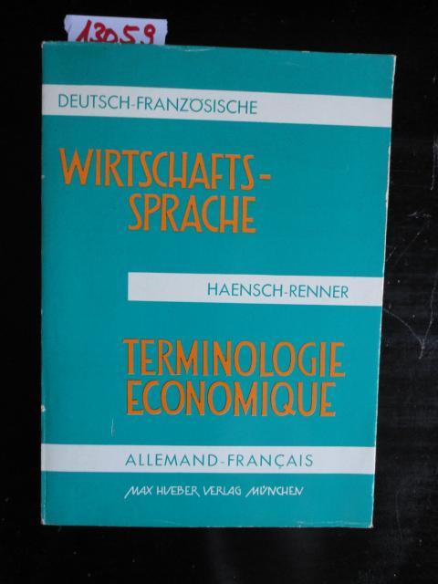 Handelskorrespondenz Musterbriefe : Wirtschaftssprache franzoesisch deutsch von haensch zvab