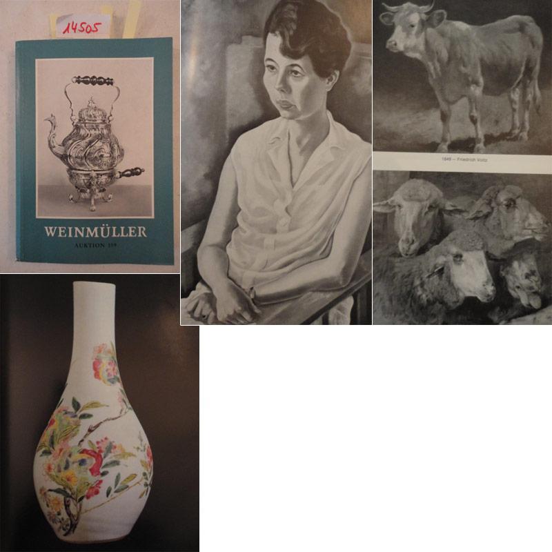Katalog zur Auktion 159 vom 12.-14 März 1975: Antiquitäten, Silber, Schmuck, Uhren, ...