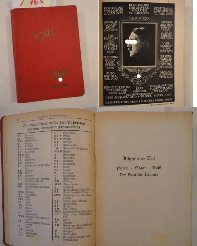 Deutscher Beamten-Kalender 1940 bearbeitet von Hauptschriftleiter Dr.Karl Vogt. Fachschaft Beamte ...