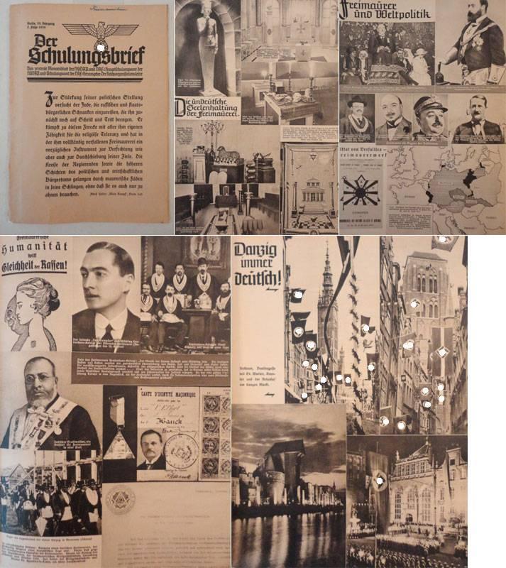 Der Schulungsbrief. Das zentrale Monatsblatt der NSDAP. VI.Jahrgang 1939, 7.Folge * mit O r i g i n...