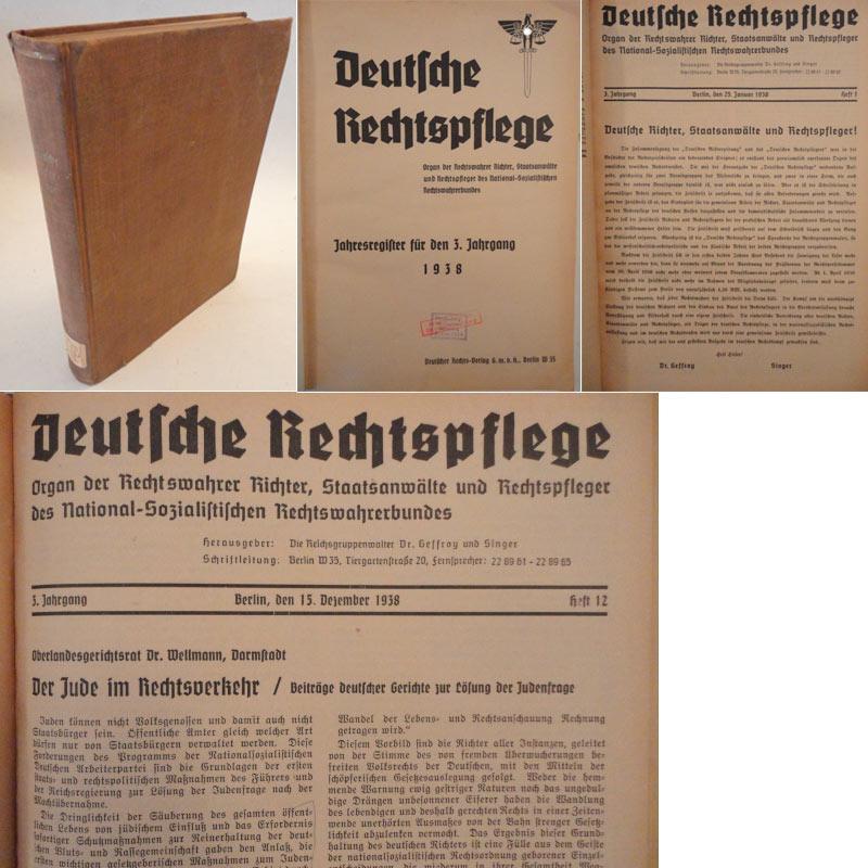 Deutsche Rechtspflege. Organ der Rechtswahrer Richter, Staatsanwälte: Die Reichsgruppenwalter Dr.Geffroy