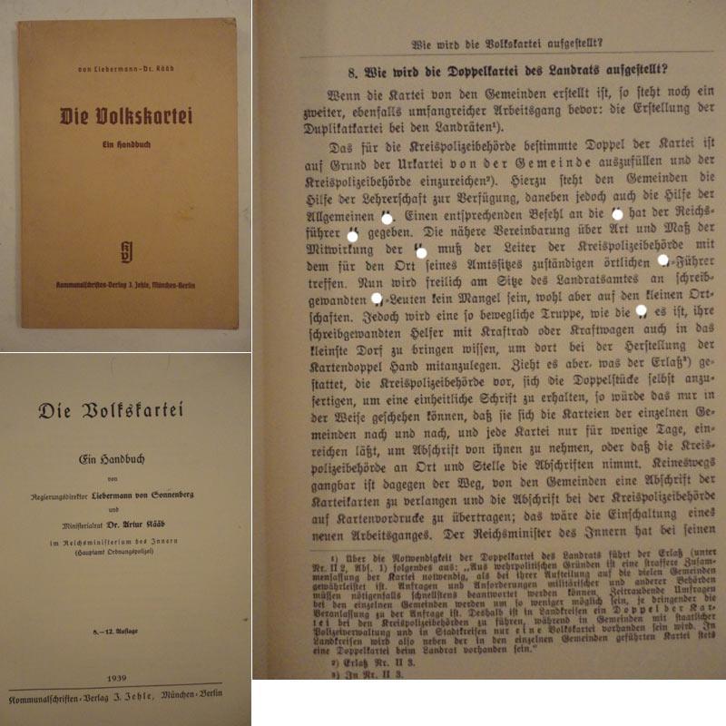 Die Volkskartei / Ein Handbuch: Liebermann von Sonnenberg