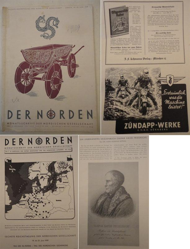 Der Norden. Monatsschrift der Nordischen Gesellschaft Nr.7 Juli 1939, 16.Jahrgang: Timm, Dr.Ernst ...