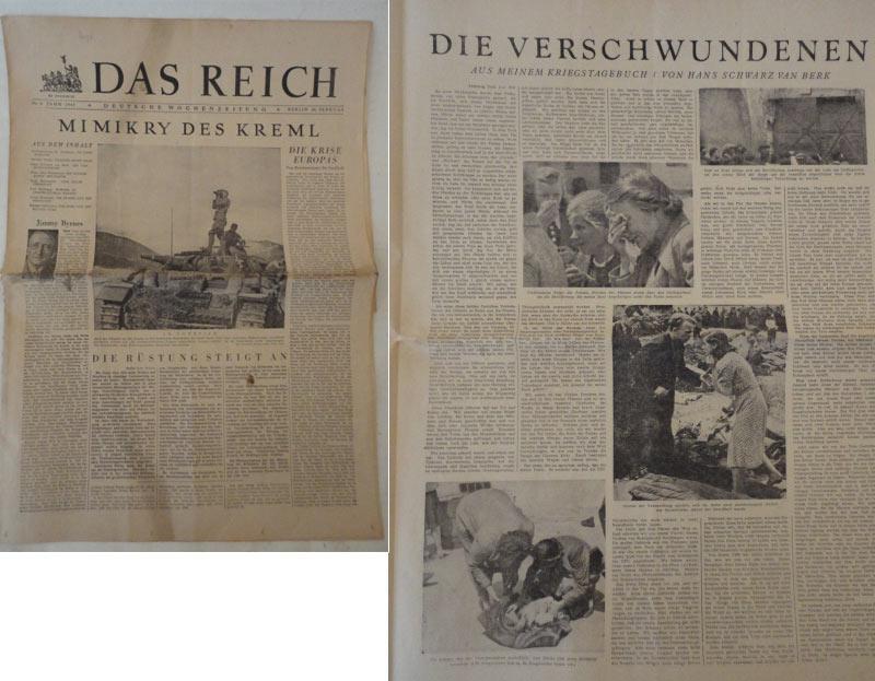 Das Reich. Deutsche Wochenzeitung Nr. 9 /
