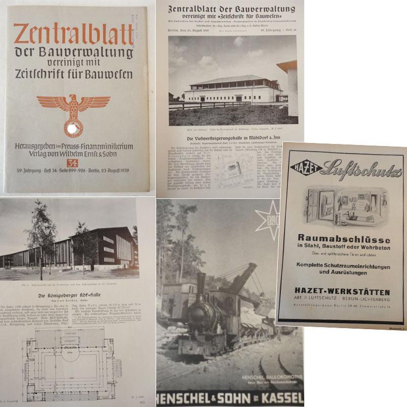 Zentralblatt der Bauverwaltung, vereinigt mit Zeitschrift für: Preussisches Finanzministerium (Herausgeber):