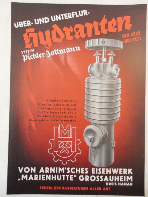 Über- und Unterflurhydranten System Pichler-Zottmann DIN 3222: Von Arnim sches
