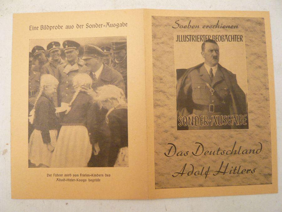 """Illustrierter Beobachter Sonder-Ausgabe: """"Das Deutschland Adolf Hitlers"""": Zentralverlag der NSDAP"""