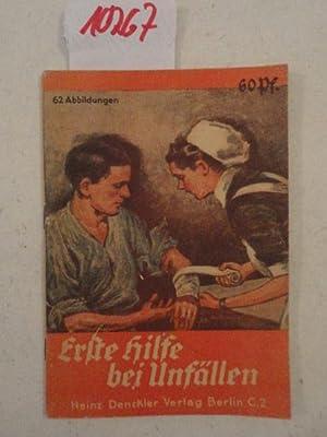 Erste Hilfe bei Unfällen für SA, SS,: Kitzing, Eberhard: