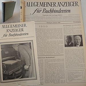 Allgemeiner Anzeiger für Buchbindereien. Mitteilungsblatt der deutschen Fachorganisationen des...