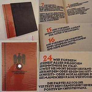 Das Programm der NSDAP * H a n d p r e s s e n d r u c k: Walter Gl�ser / Kunstgewerbeschule ...