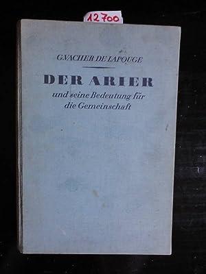 Der Arier und seine Bedeutung für die Gemeinschaft. Freier Kursus in Staatskunde, gehalten an ...