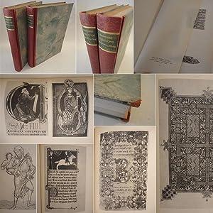 Englische Buchmalerei Bände I / II (Text- und Bildband) - H A L B L E D E R - L U X U S E...