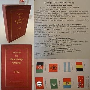 Jahrbuch für auswärtige Politik 8.Jahrgang 1942: Berber, Friedrich (o.�.Professor an der ...