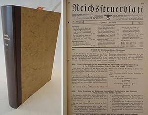Reichssteuerblatt Jahrgang 1939 / 2.Halbjahr: Reichsfinanzministerium (Herausgeber):