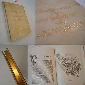50 Jahre Bayer Arzneimittel 1888-1938 * G A N Z P E R G A M E N T Handeinband: Bayer I.G. ...