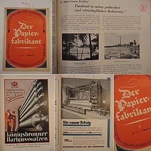 Der Papier-Fabrikant. Sonderausgabe und Auslandsheft Nr.31 A August 1934, XXXI.Jahrgang: Ehrenthal,...