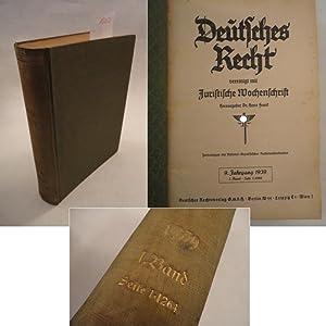 Deutsches Recht. Zentralorgan des Bundes Nat.-Sozialistischer Deutscher Juristen 9.Jahrgang 1939, ...