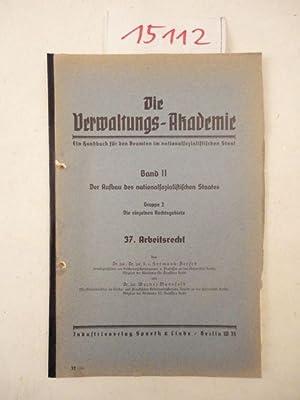 Arbeitsrecht: Dersch, Hermann und Werner Mansfeld: