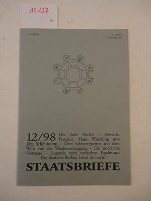 Staatsbriefe, Nr.12/98 - 9. Jahrgang 1998: Sander, Dr. Hans-Dietrich: