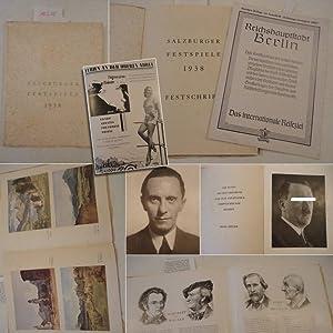Salzburger Festspiele 1938 Festschrift * mit der originalen reichbebilderten A n z e i g e n - B e ...