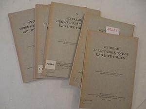 Extreme Lebensverhältnisse und ihre Folgen Band I - VI (von VIII): Nathusius, Wolfgang von und...
