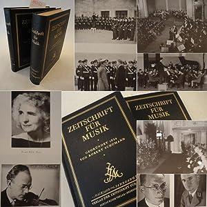 """Zeitschrift für Musik. Monatsschrift für eine geistige Erneuerung der deutschen Musik, gegründet 1834 als """"Neue Zeitschrift für Musik"""" von Robert Schumann. 106.Jahrgang 1939, mit dem Sonderheft """"Der Führer und die M"""