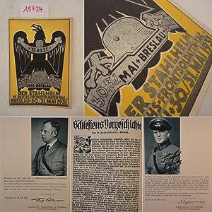 Der Stahlhelm. 12.Reichs-Frontsoldaten-Tag Breslau 30./31.Mai 1931: Marklowski, Oberst a.D. ...