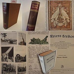 Meyers Lexikon, in völlig neuer Bearbeitung und Bebilderung, 7.Band: Kudowa - Muskeln * m i t ...