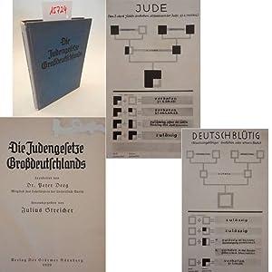 Die Judengesetze Großdeutschlands, bearbeitet von Dr. Peter Deeg (Mitglied des Lehrkö...