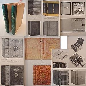 Jahrbuch der Einbandkunst 2.-4. Jahrgang 1928-1930 in 2 Bänden * H A L B L E D E R - Handeinb&...