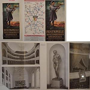Festspiele im Nürnberger Opernhaus, dem Festspieltheater der Reichsparteitage Juni - Juli 1937...