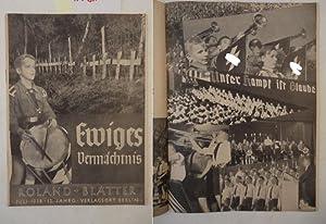 Roland-Blätter Juli 1938, 12.Jahrgang: Hillebrand, R. (Hauptschriftleiter):