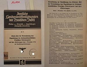 Gesetz über die Vernehmung von Angehörigen der Nationalsozialistischen Deutschen ...