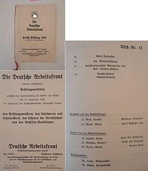 Herbst-Prüfung 1936 der Gehilfen im Gaststättengewerbe / Reichsbetriebsgemeinschaft ...